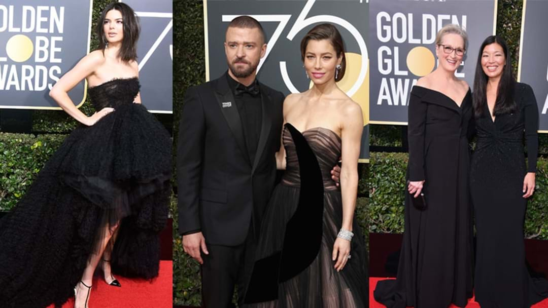 Golden Globes Fashion: Black Reigned Supreme As Stars Protest Against Sexual Harassment