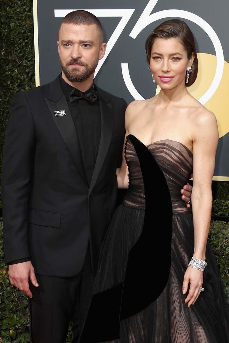 Justin Timberlake & Jessica Biel at the Golden Globes 2018