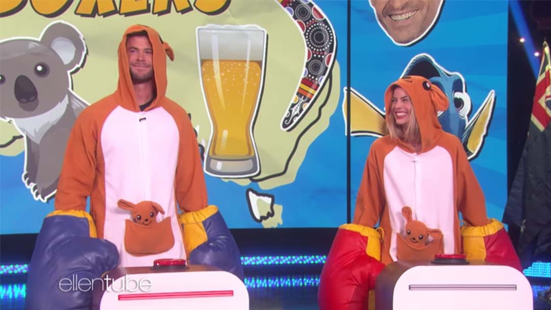 Margot Robbie & Chris Hemsworth Played An Aussie Trivia Game In Kangaroo Onesies Like Absolute Troopers!
