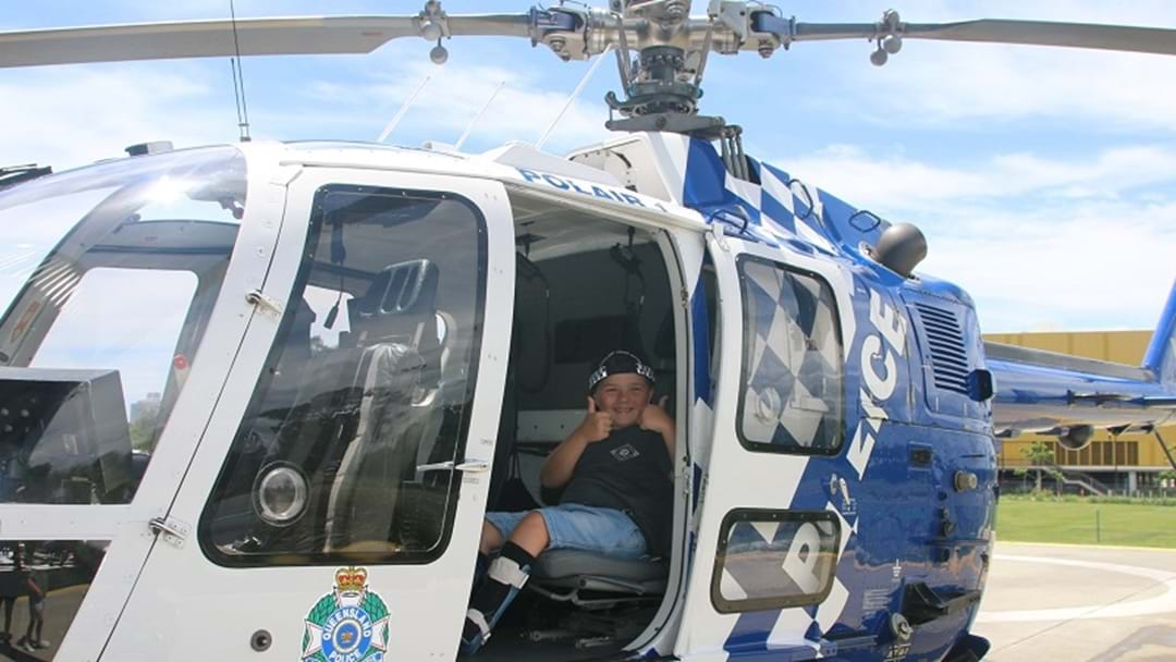 Dream come true for six-year-old POLAIR officer for the day