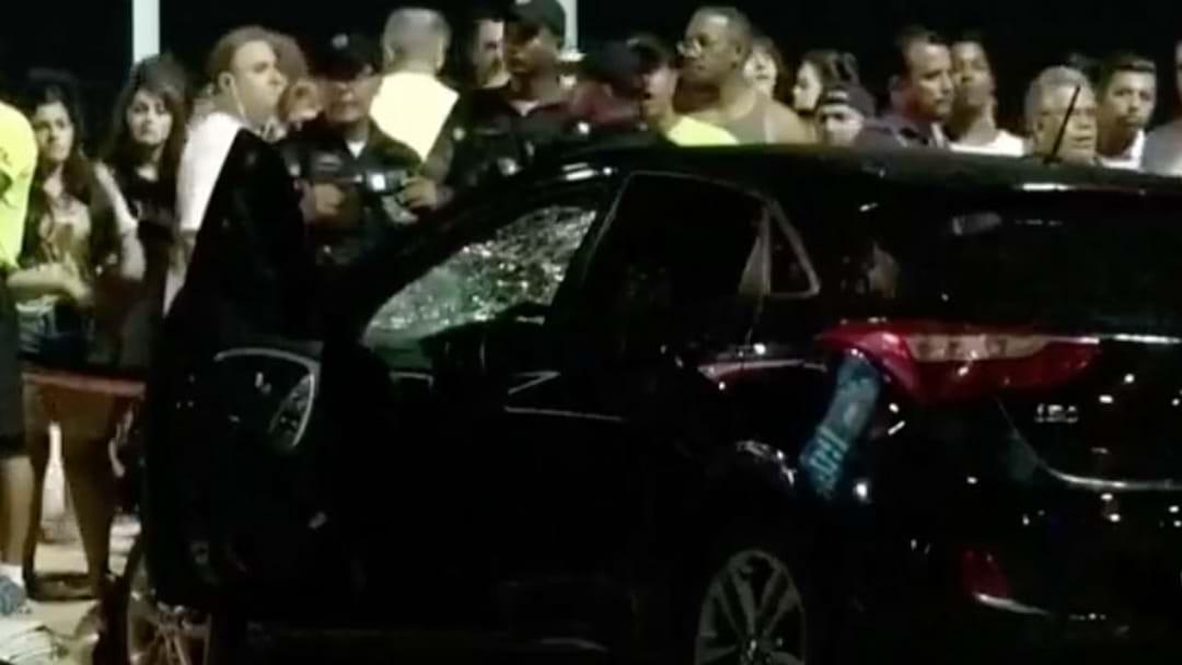 Car Ploughs Into Pedestrians In Brazil
