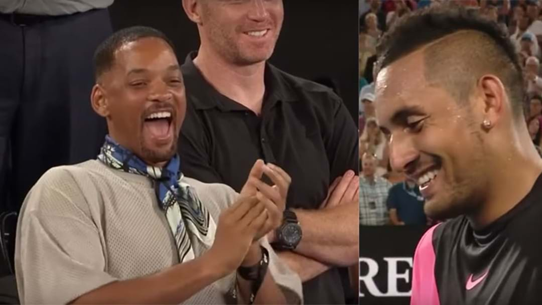 Will Smith Attended The Australian Open & Got Burned By Nick Kyrgios