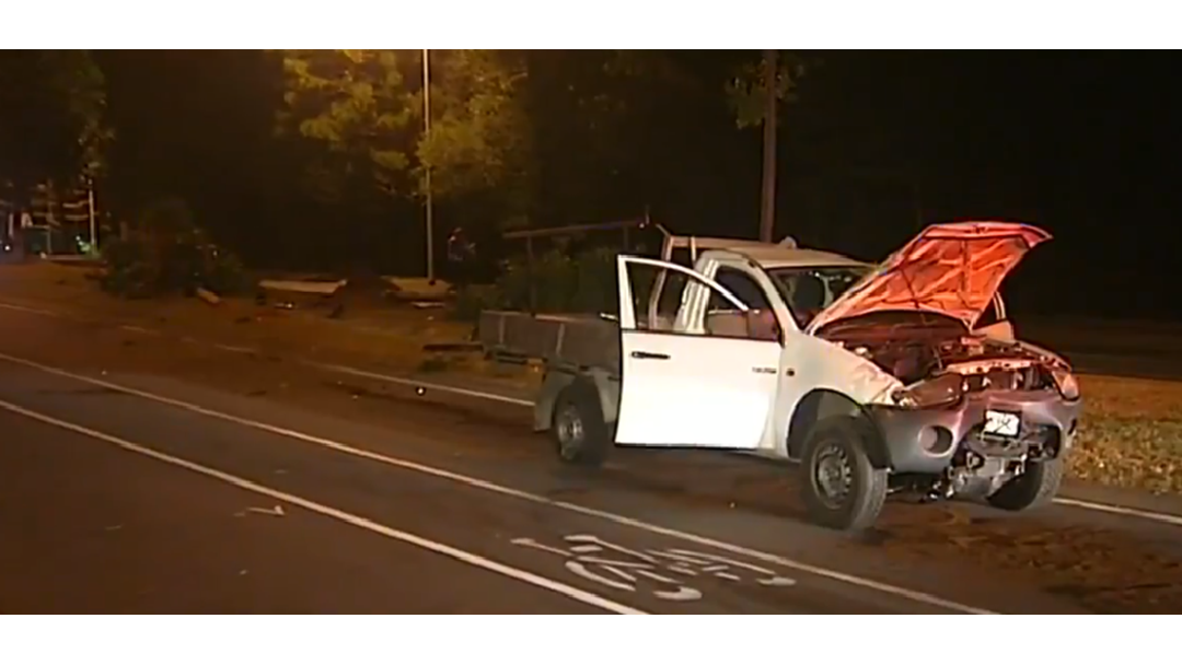 A joyride in a stolen ute has landed two guys in hospital and in handcuffs