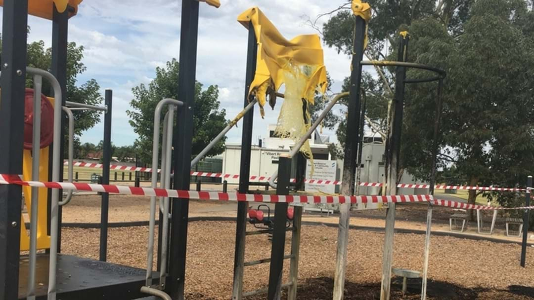 Fire at Archer Street playground