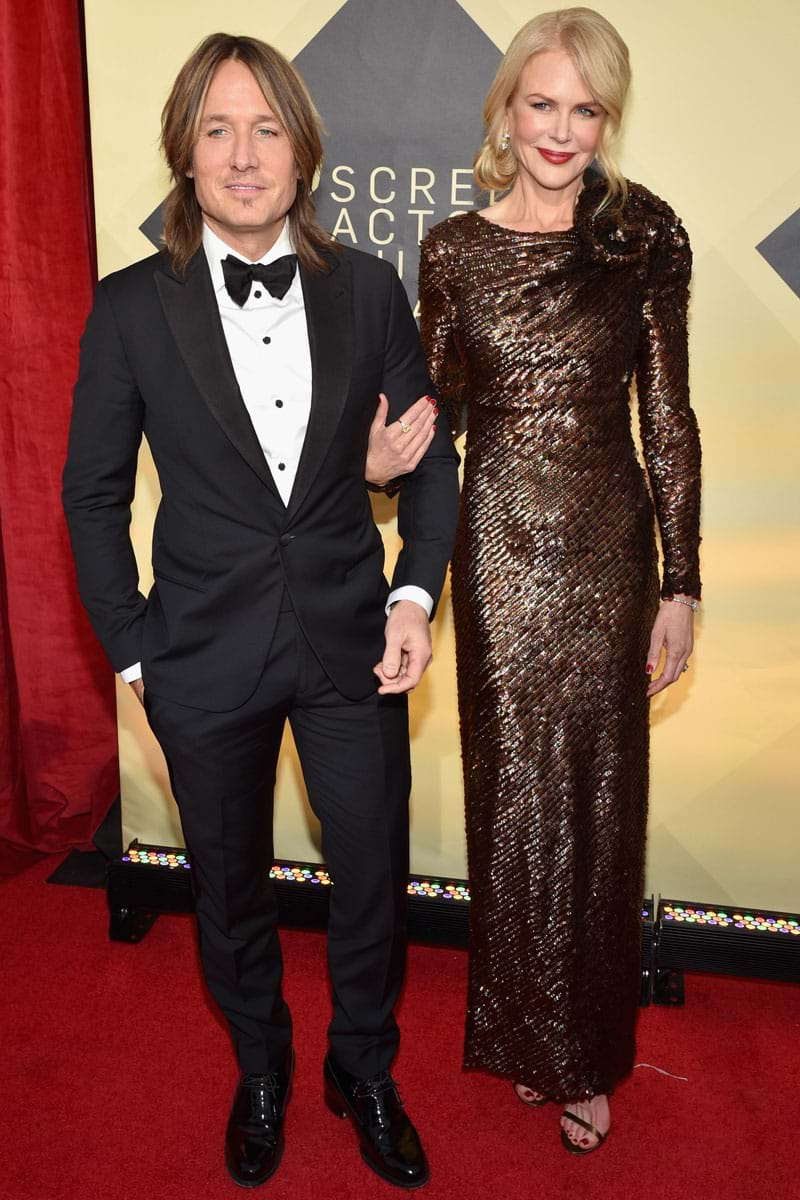 Keith Urban and Nicole Kidman at the 2018 SAGs