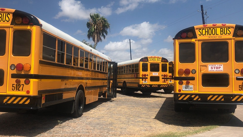 Five-year-old Logan girl trapped on school bus