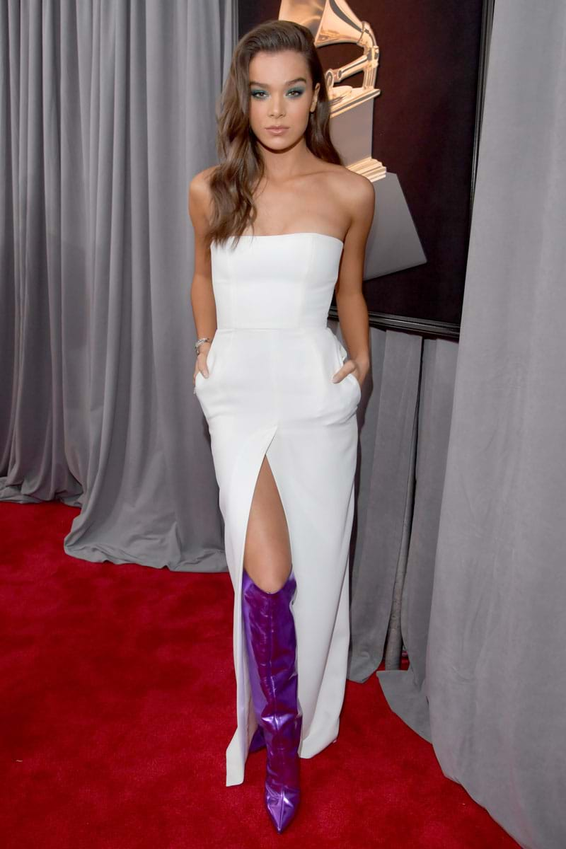 Hailee Steinfeld at the 2018 GRAMMYs