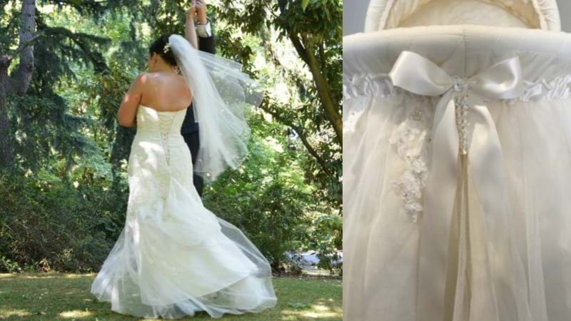 Article heading image for This Aussie Mum Found The BEST Way  To Use Her Wedding Dress