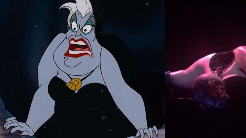 Poor unfortunate soul: Ursula's head falls off at Disneyland attraction