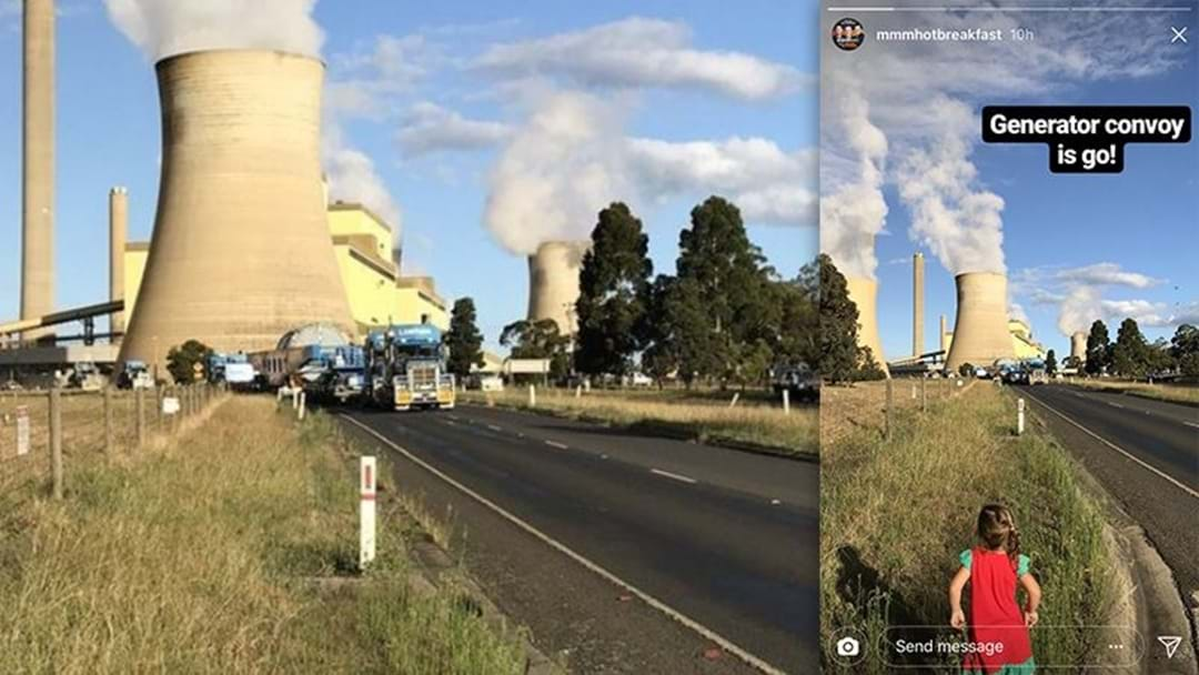 More Road Closures Tonight As Another Giant Power Generator Travels To Loy Yang B Power Station