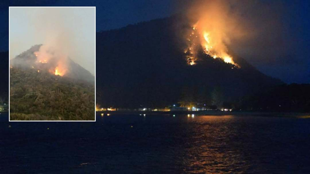 PHOTOS: Mount Tomaree On Fire