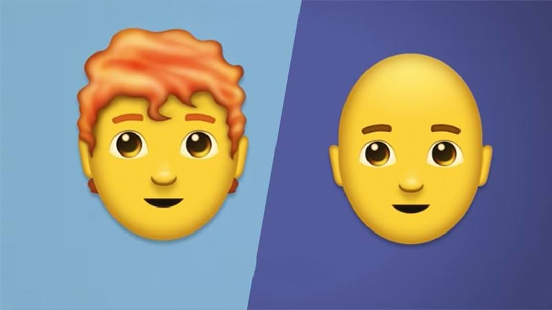 Redhead & Bald Emojis Are Finally Being Added To iPhones This Week!