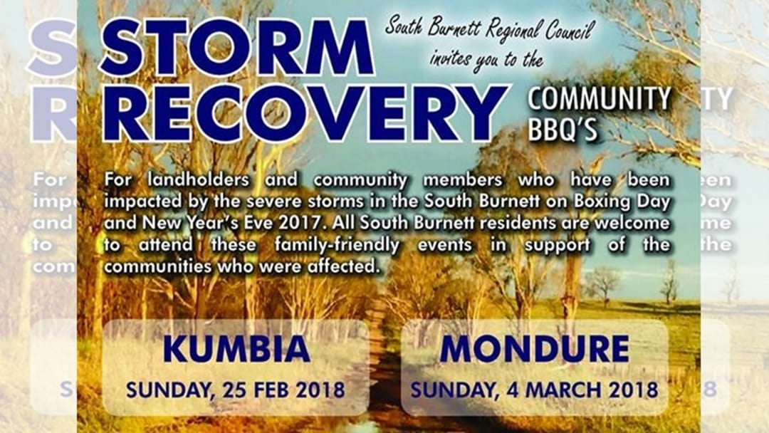 South Burnett Storm Recovery Community BBQ