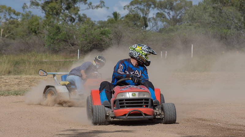 Article heading image for Satisfy Your Need For Speed With Lawn Mower Racing