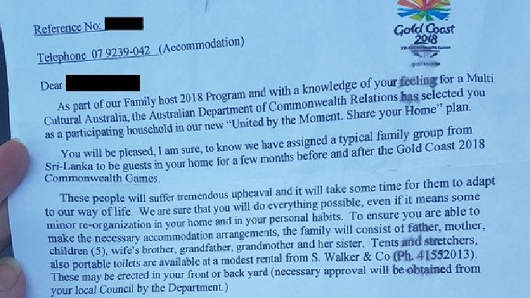 Hoax Letter Asks Resident To Host Family Of 11 From Overseas During Commonwealth Games
