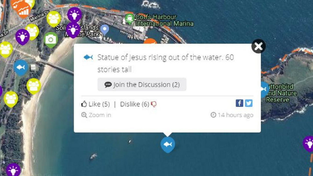 Jesus Statue Suggested in Jetty Development