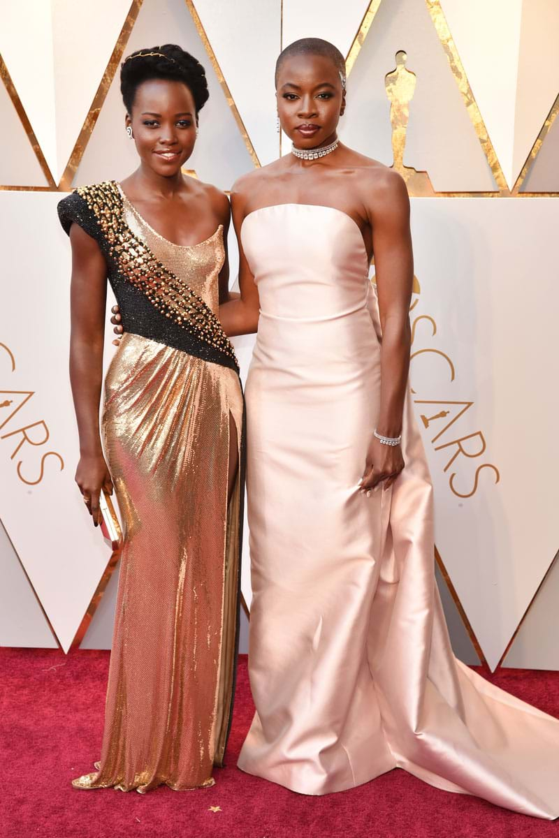 Lupita Nyongo & Danai Gurira at the 2018 Oscars