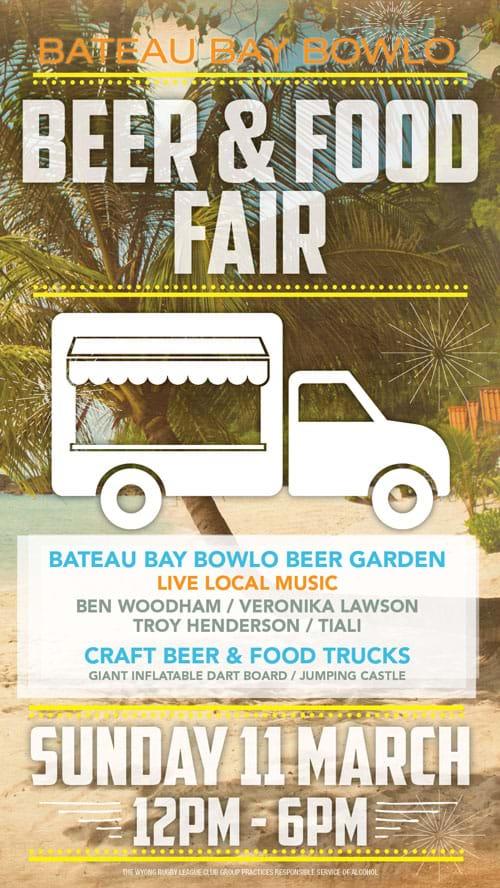 Beer & Food Fair Bateau Bay Bowlo