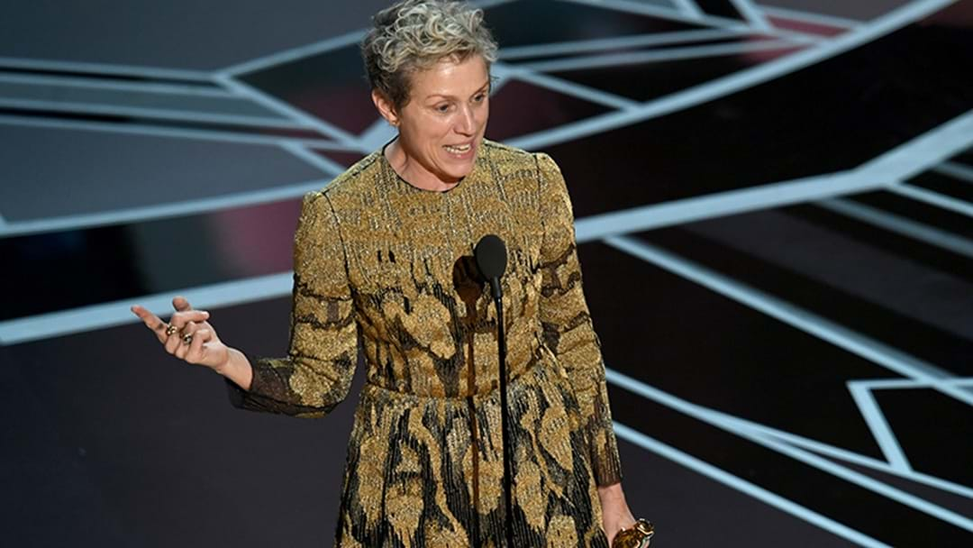 Frances McDormand Just Delivered The Most Bad Ass Speech Honouring All Female Nominees