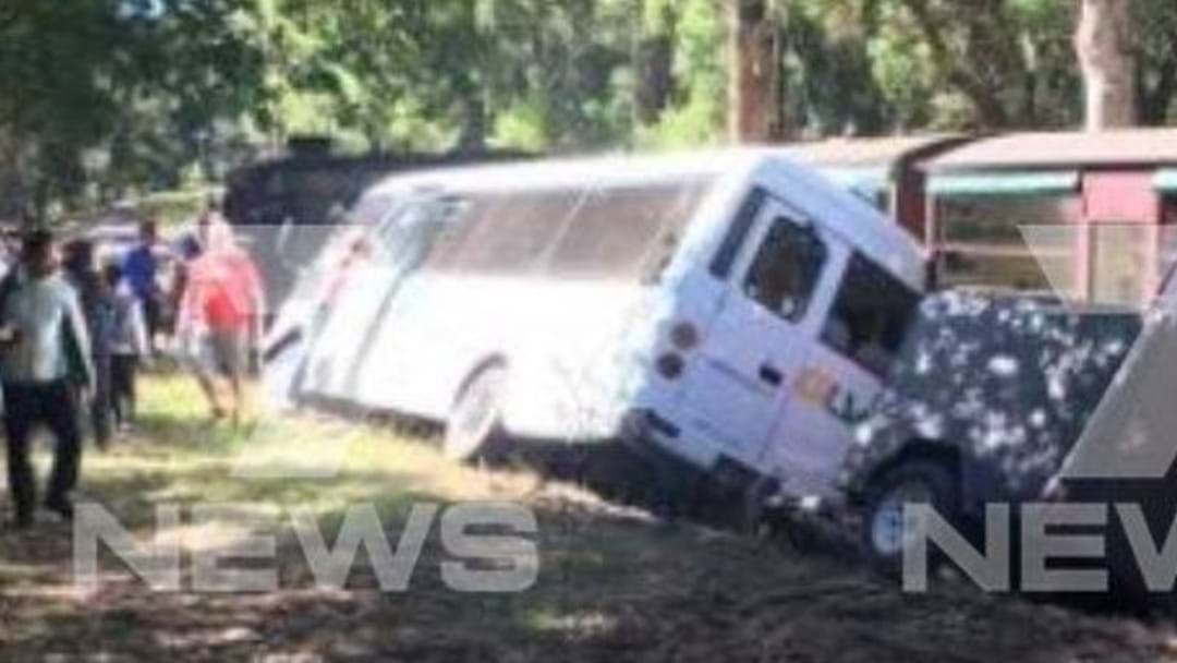 Train On Puffing Billy Railway In Collision With Bus