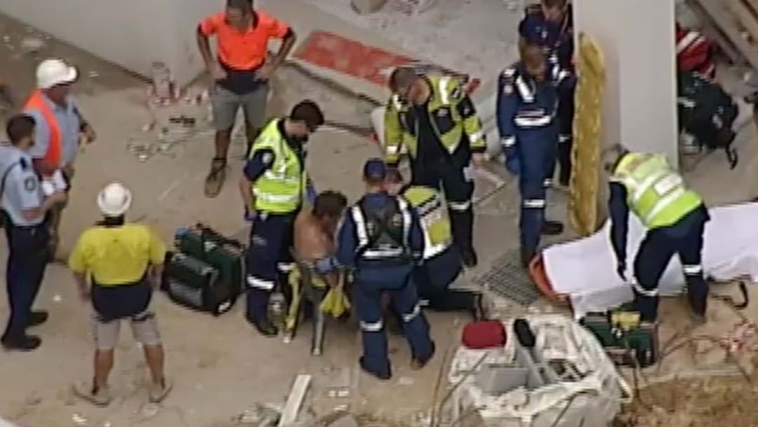 Man Pinned By Rocks In Trench Collapse Saved By Work Mates