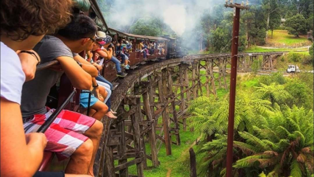 Sticking Your Feet Out Of Puffing Billy Has Been Banned
