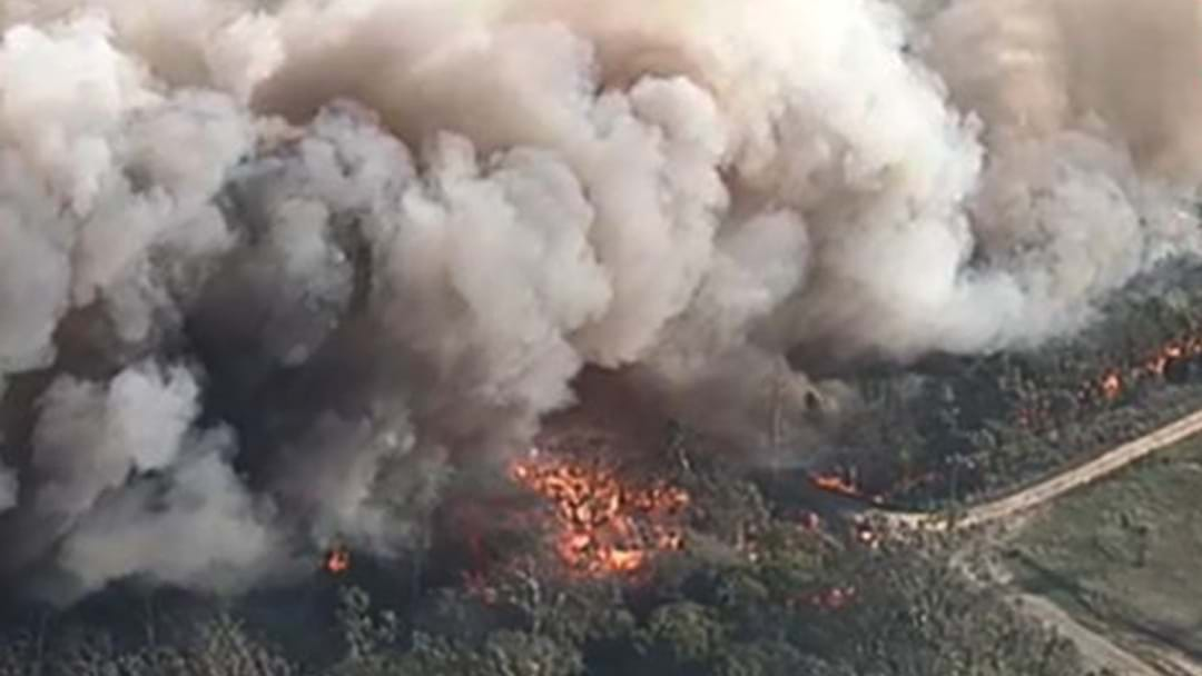 Fire Fighters Are Struggling To Control A Large Fire In Casula