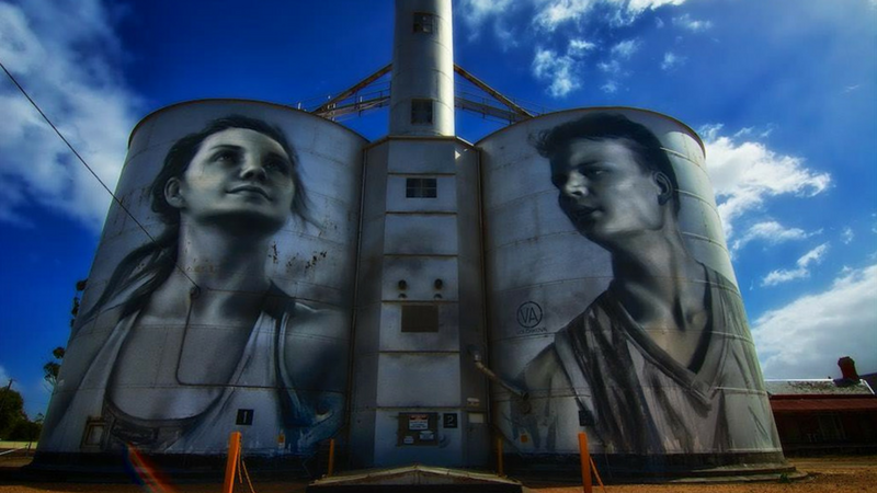 Article heading image for A Mind-Blowing Silo Art Project Is Underway near Benalla