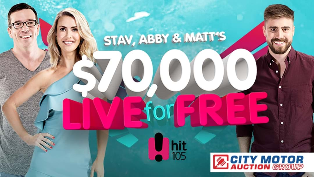 Stav, Abby & Matt want you to Live for Free with $70,000!