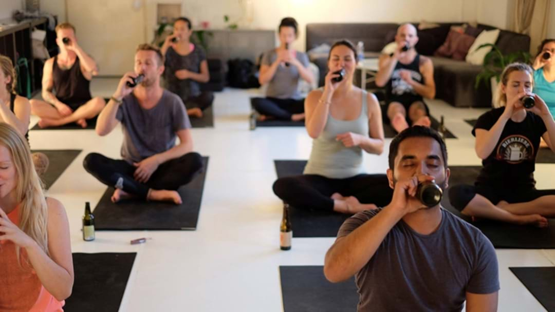"Of Course Sydney Is Home To This Next Exercise Trend: ""Beer Yoga"""