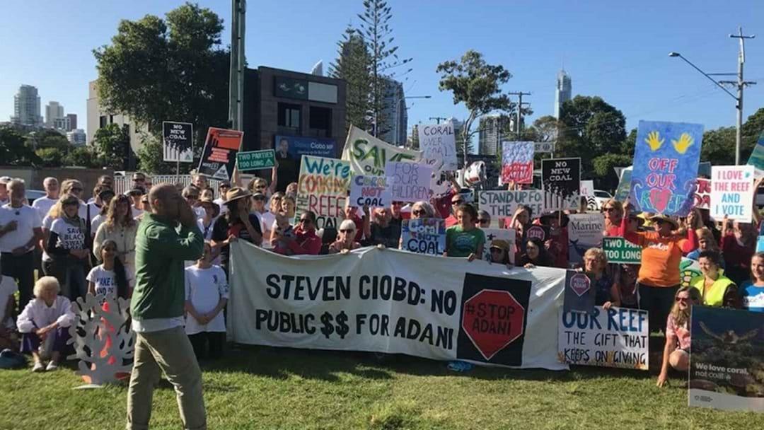Anti-Adani Protestors Rally Outside Gold Coast MP's Office