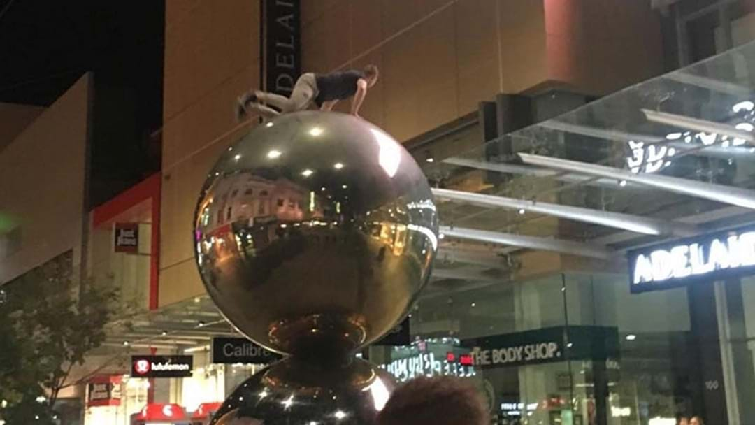 Adelaide Council Is Reviewing Rundle Mall Safety After Loose Larrkin Climbs Balls