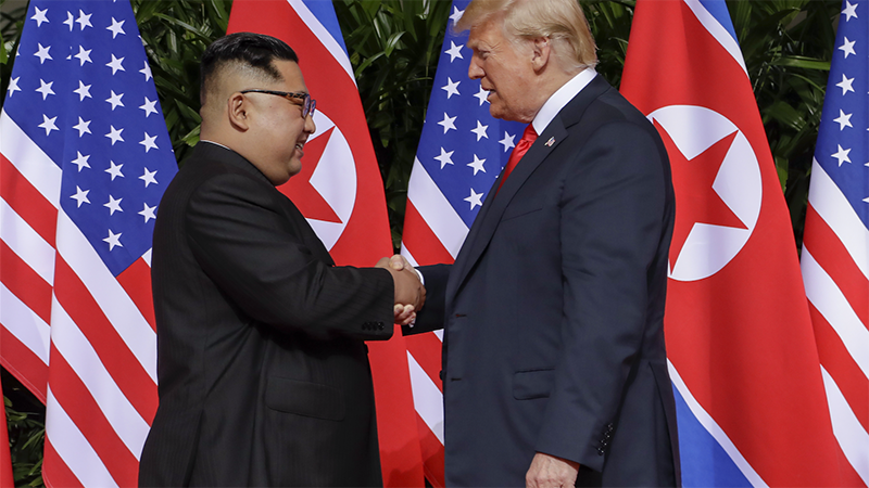 Article heading image for Trump Reckons Kim Jong Un Would Make A Great House Guest After Signing Important Document