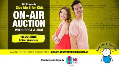 Pippa & Jimi's On-Air Auction