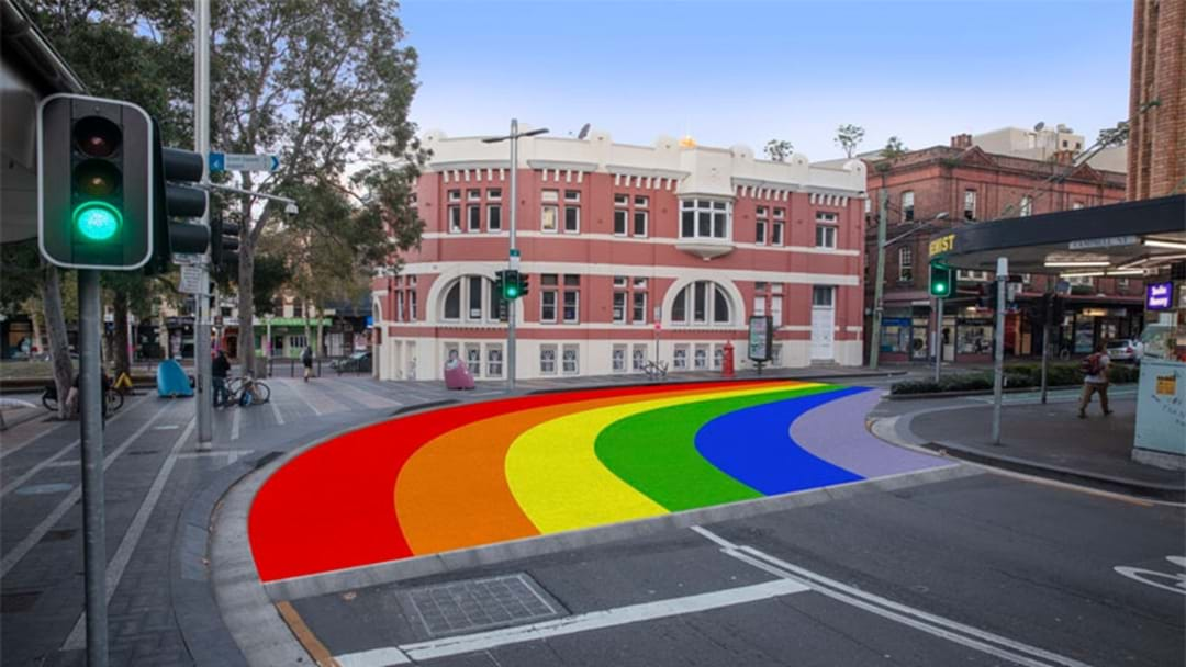 Sydney Is Getting A Permanent Rainbow Crossing In Surry Hills!