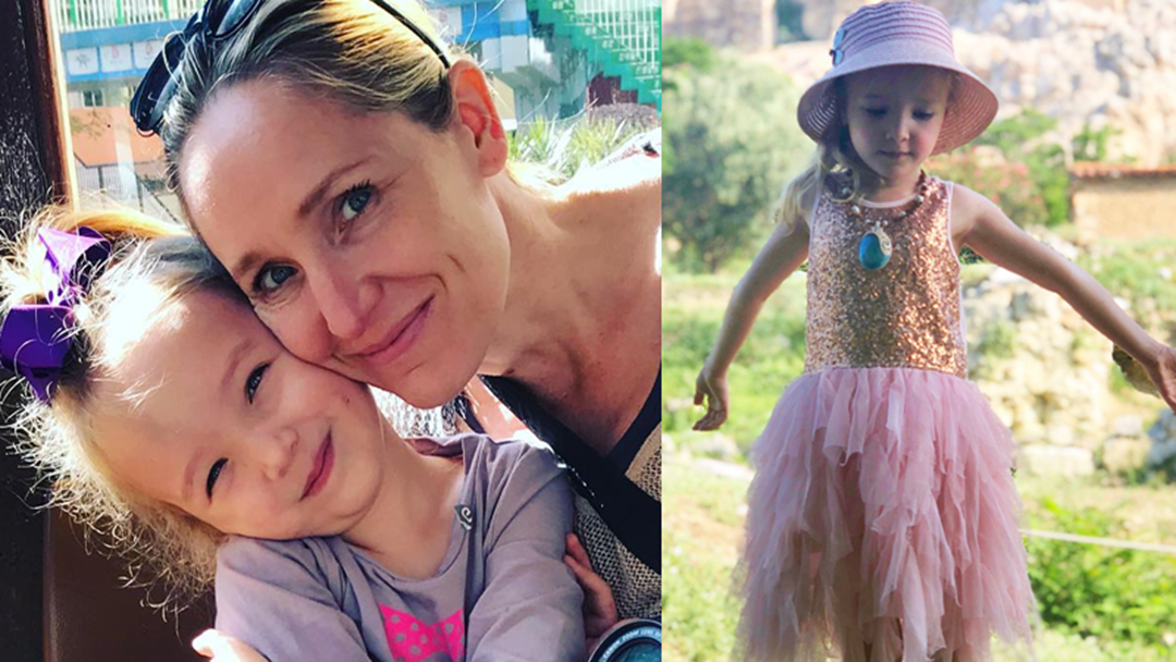 Fifi Box's Five-Year-Old Hiked All The Way To The Parthenon & Her Face Says It All