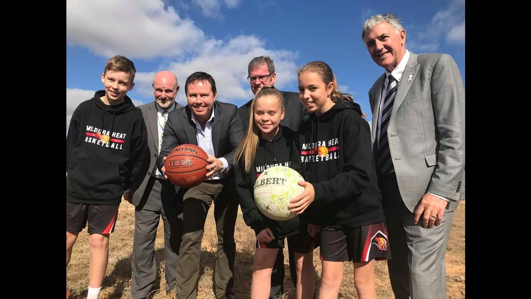 Ten million dollars announced for Stage 1 of Mildura South Sporting Precinct.