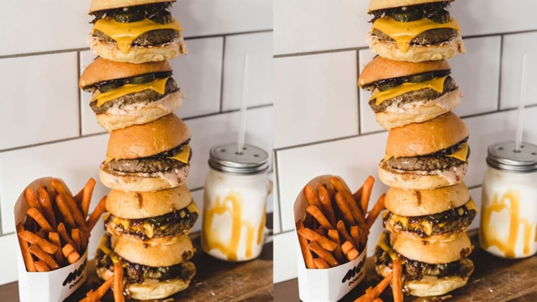 Five Burger Sliders Stacked On Top Of Each Other Exist In Perth