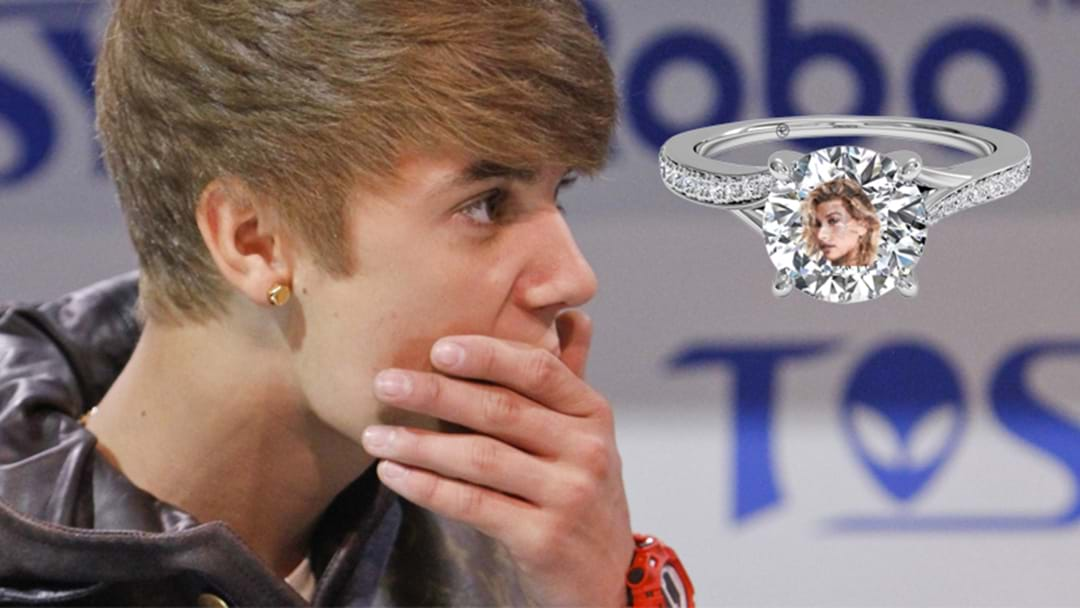 Justin Bieber Claims He Saw Hailey Baldwin's Face In The Ring He Chose