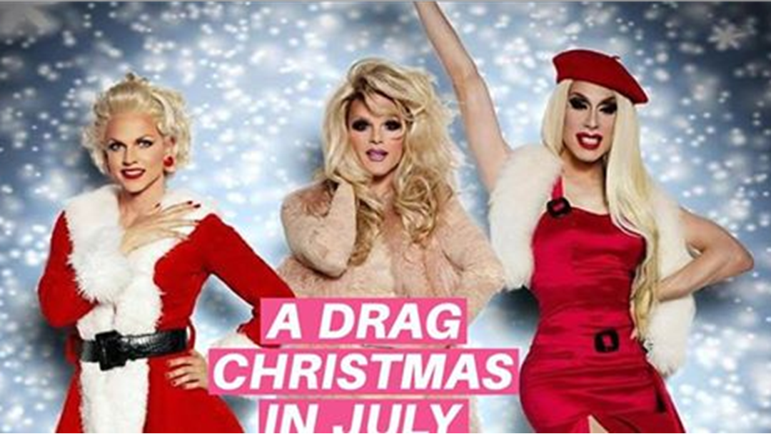 There is a Drag Queen Christmas in July Party and YOU CAN'T MISS THIS!