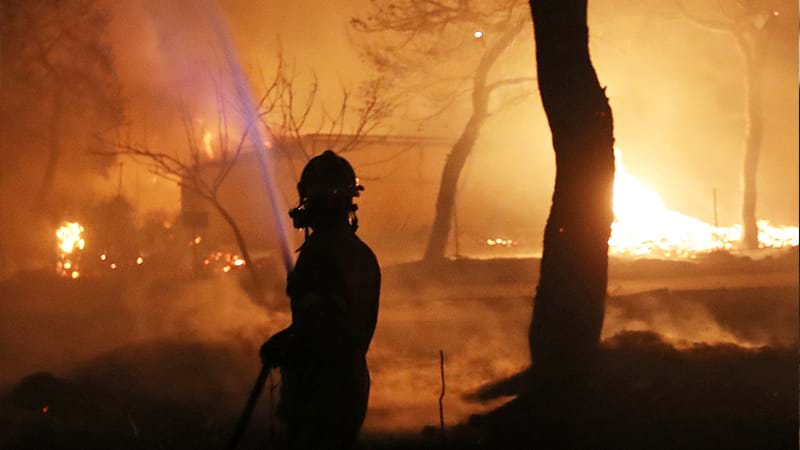 Article heading image for At Least 20 Dead After Wildfire In Greece
