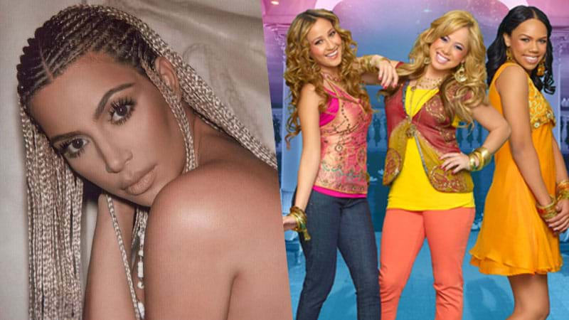 Article heading image for Kim Kardashian Made A Horror Movie With The 'Cheetah Girls' & It's Iconic