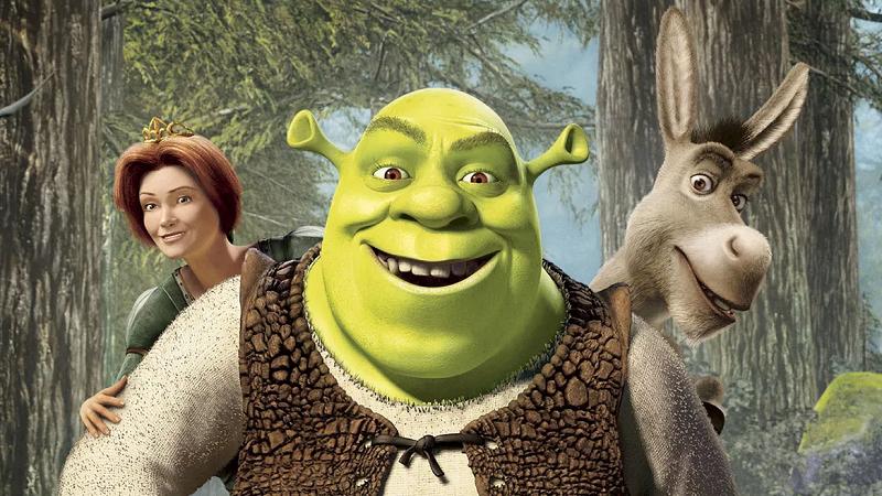 Shrek cartoons network shrek and ffiona at the beach