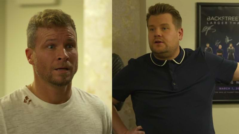 Article heading image for James Corden Kicked Brian Out Of The Backstreet Boys For A Night & He Didn't Take It Well