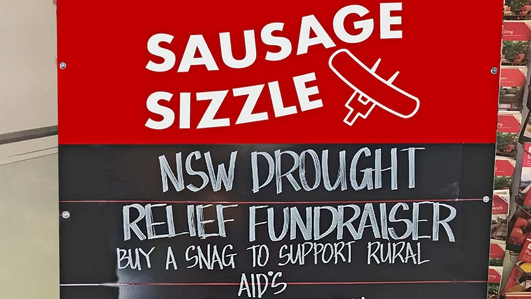 Bunnings NSW Are Hosting A Sausage Sizzle To Raise Money For Struggling Farmers