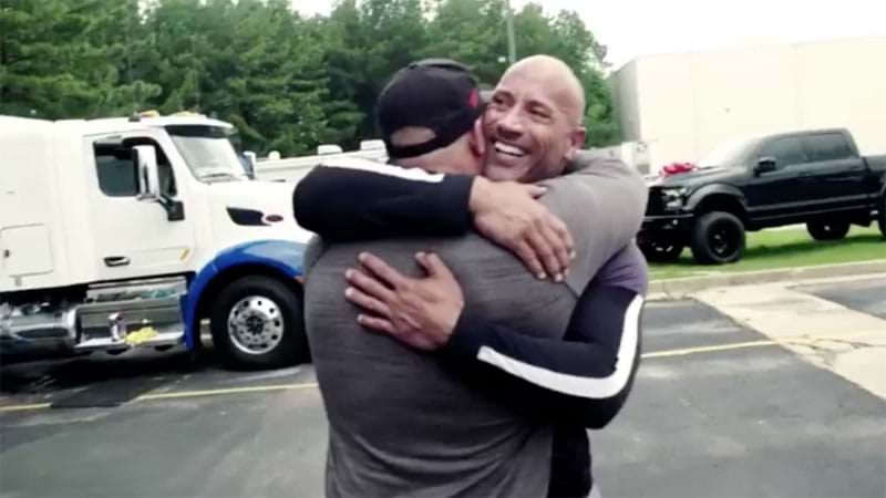 Article heading image for Dwayne Johnson Giving His Stunt Double A Car Will Make You Cry Happy Tears