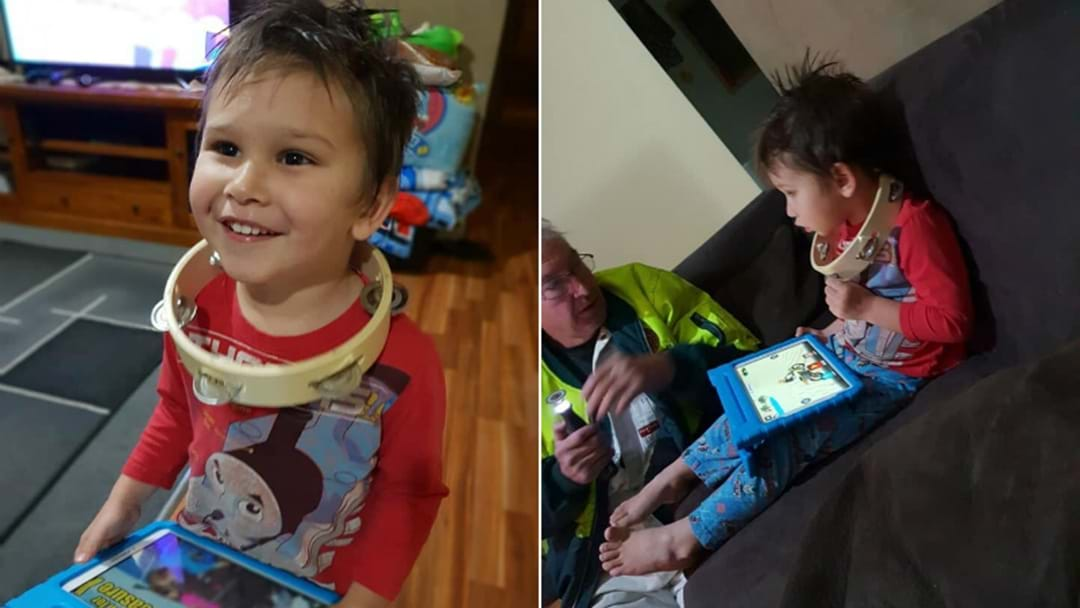 Rescue Squad Called After Boy's Tambourine Dilemma