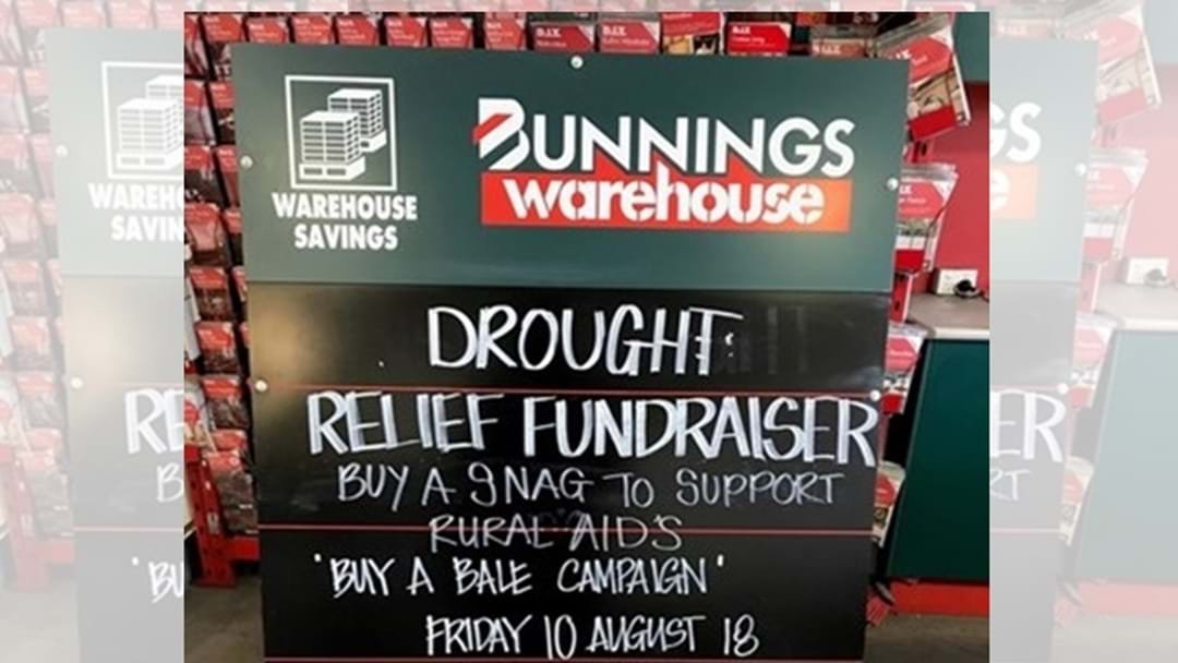 Bunnings BBQ Drought Relief Sausage Sizzle