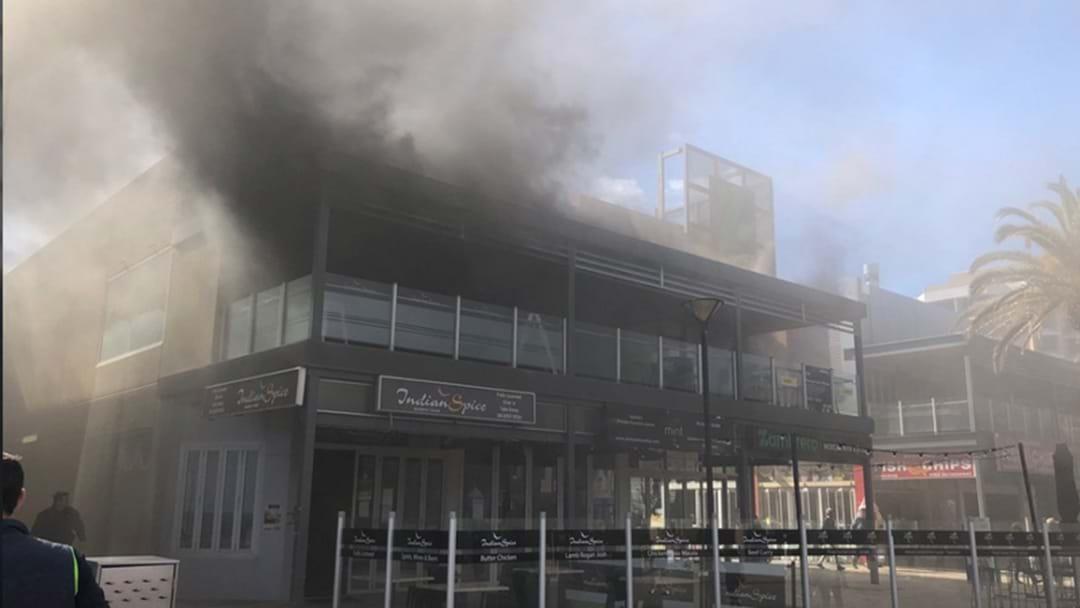 Smoke Blanketing The Streets After Glenelg Restaurant Fire