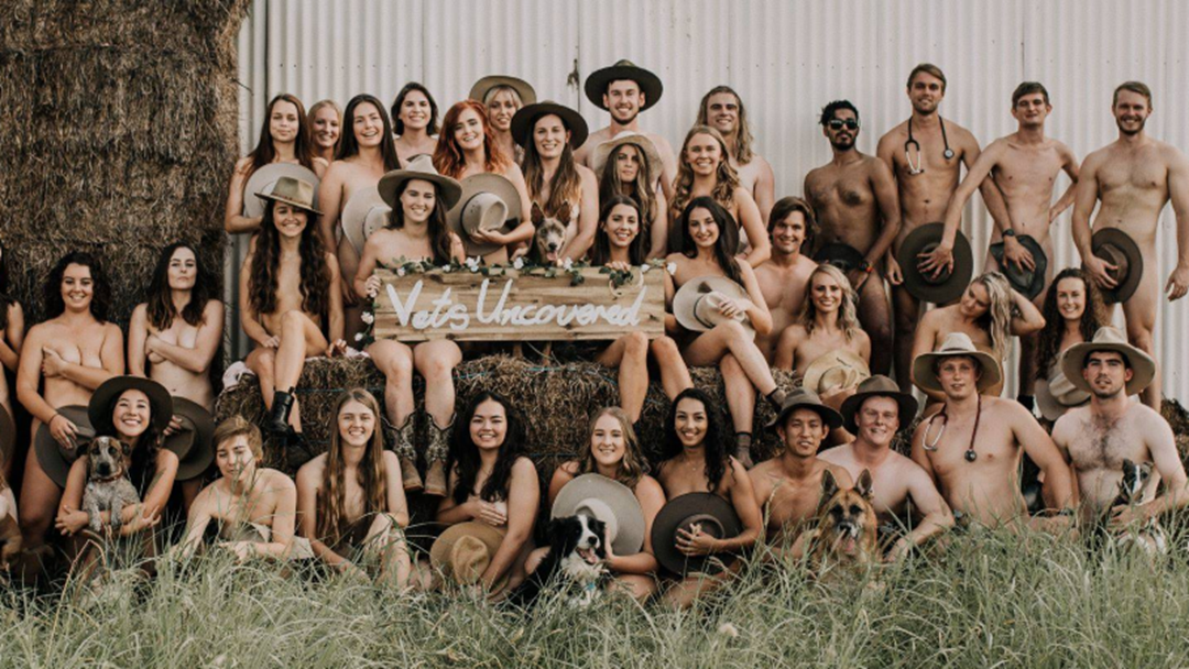 Future Townsville Vets Strip Off To Show Off Aussie Farmer Support